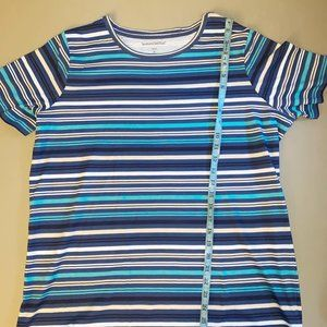 Woman Within Striped Shirt